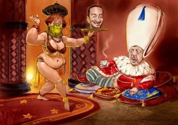 karikatur merkel-erdogan